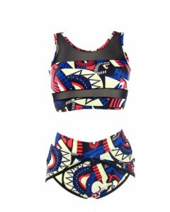 PiePieBuy Womens African Print Inspired Two Piece Bikini Bathing Suit