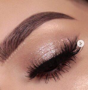 shimmery eyeshadow