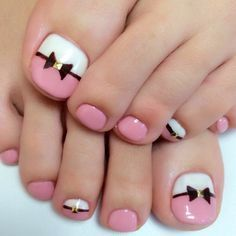 pink toe nail art designs
