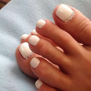simple toe nail art design