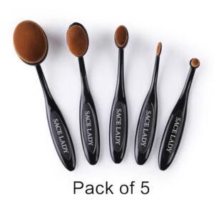 sace lady oval makeup brush set viva la vibes
