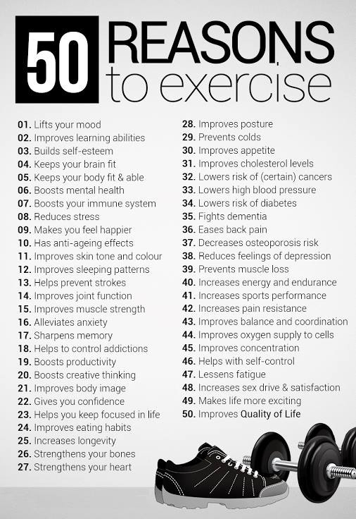 50 Reasons to Workout (when you really don't want to)