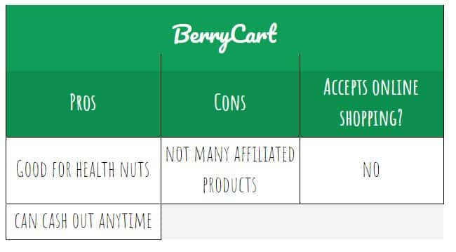 BerryCart pros and cons