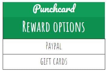 Punchcard rewards
