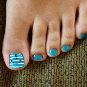 beach toe nail art