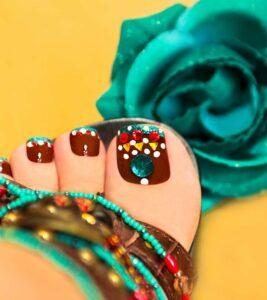 crazy toe nail art