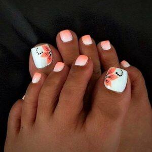 flower toe nail art designs