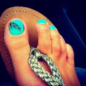 beach toe nail art designs