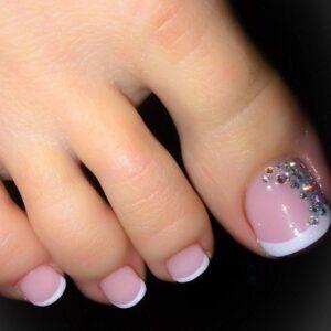 french manicure toe nail art