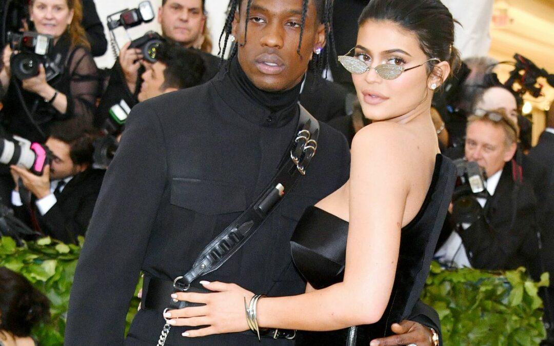 Kylie Jenner & Travis Scott Make Matching Red Carpet Debut At Met Gala