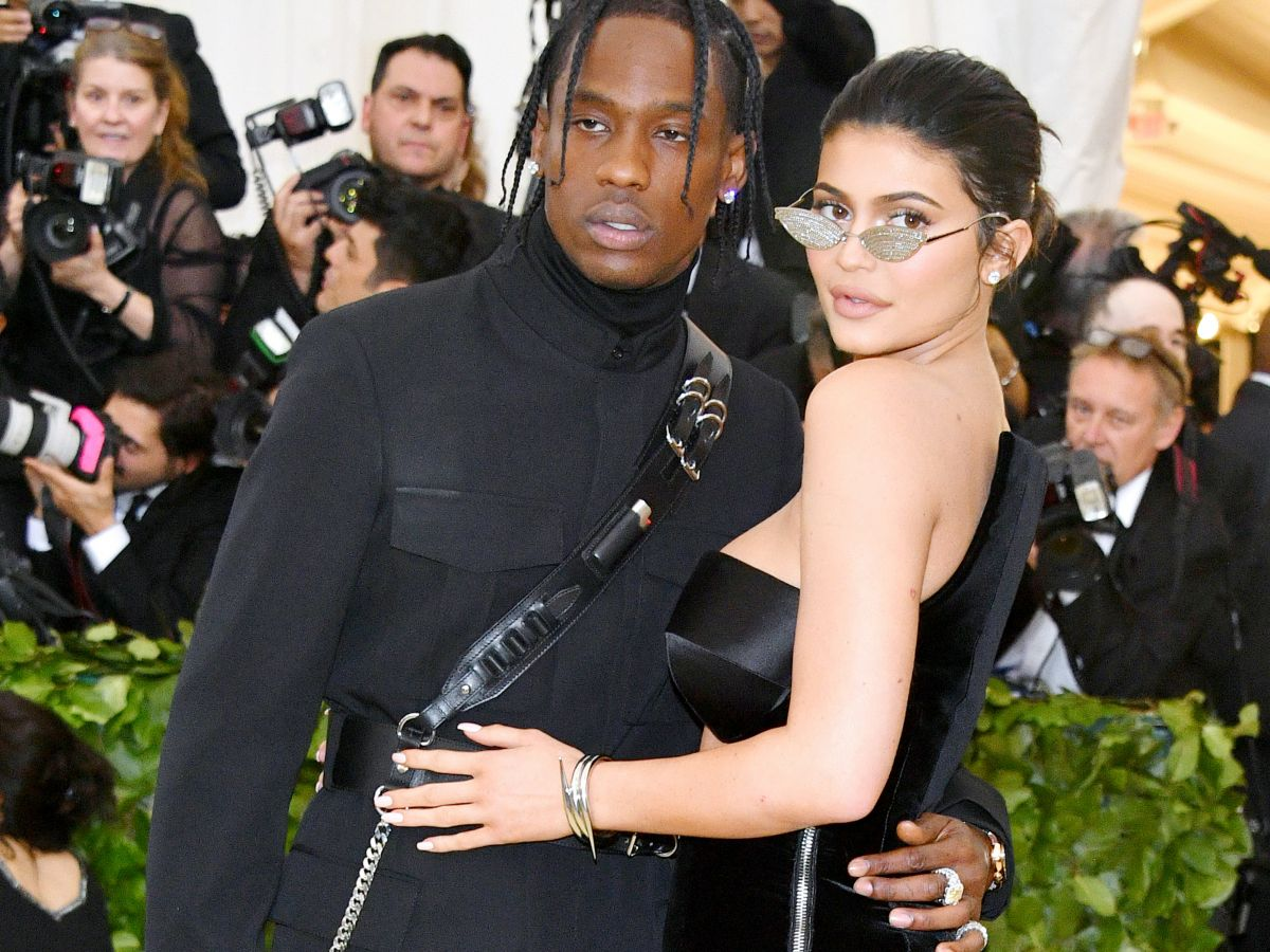 Kylie Jenner & Travis Scott Make Matching Red Carpet Debut At Met Gala