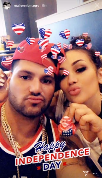 Jen Harley + Ronnie Ortiz-Magro Celebrated July 4 Without Assaulting Each Other