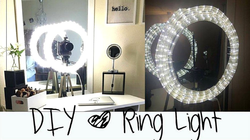 Easy Makeup Mirror Light |  DIY