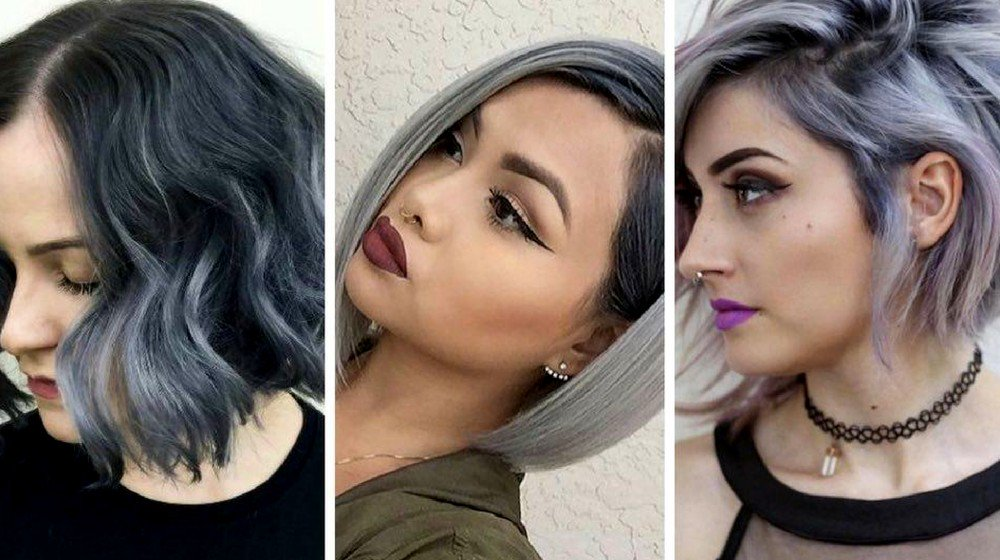 Silver Ombre Hairstyles for Short Hair