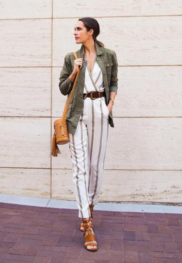 cargo jacket with jumpsuit outfit bmodish