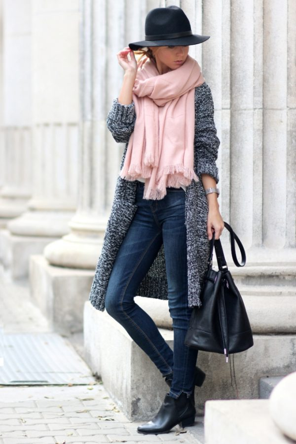 cozy long cardigan casual fall outfit bmodish