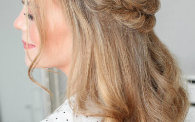 How to do a Half-Up Fishtail French Braids   Hair Tutorial