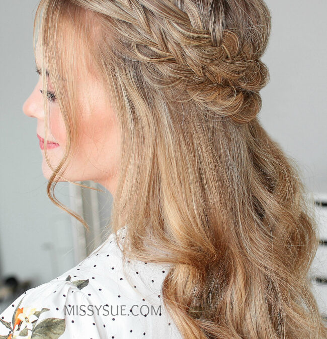 Half-Up Fishtail French Braids | Hair Tutorial