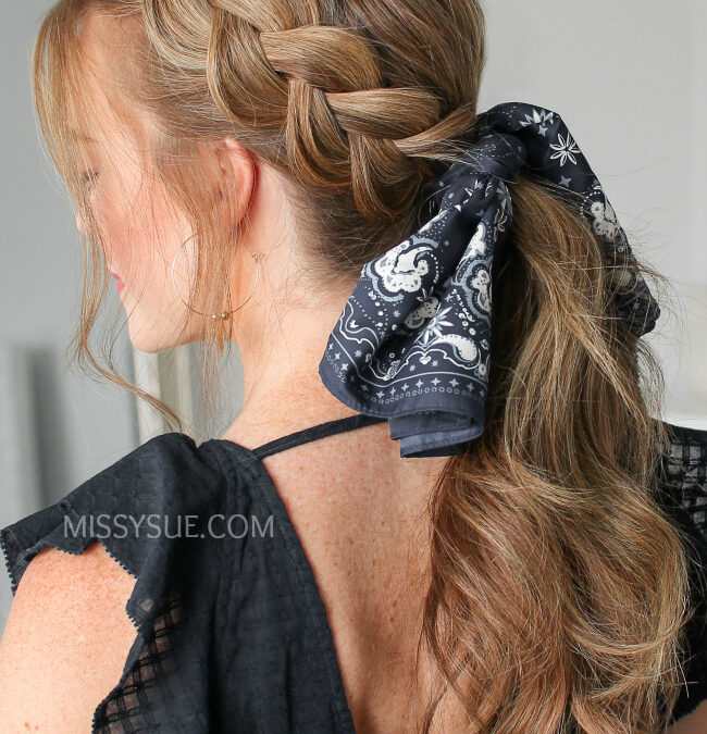 12 Beautifully Chic Back-to-School Scarf Hairstyles