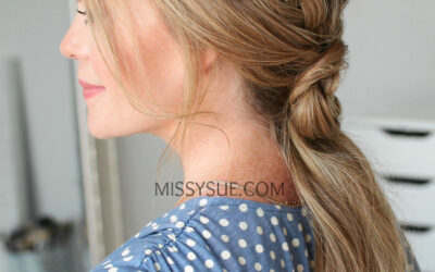 How to do a Double-Fishtail French Braid-Flower Ponytail   Hair Tutorial