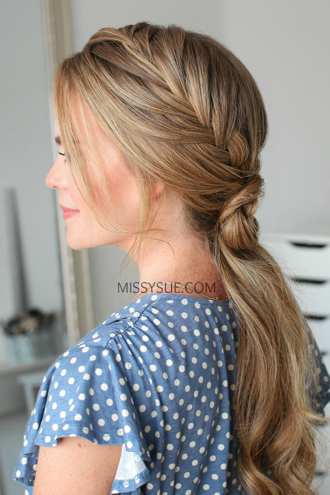Double-Fishtail French Braid-Flower Ponytail | Hair Tutorial