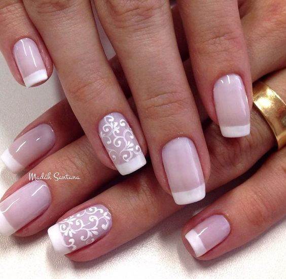 50 Contemporary French Manicure Design-Ideas for 2021