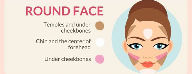 Round Face | How To Contour Your Face Depending On Your Face Shape