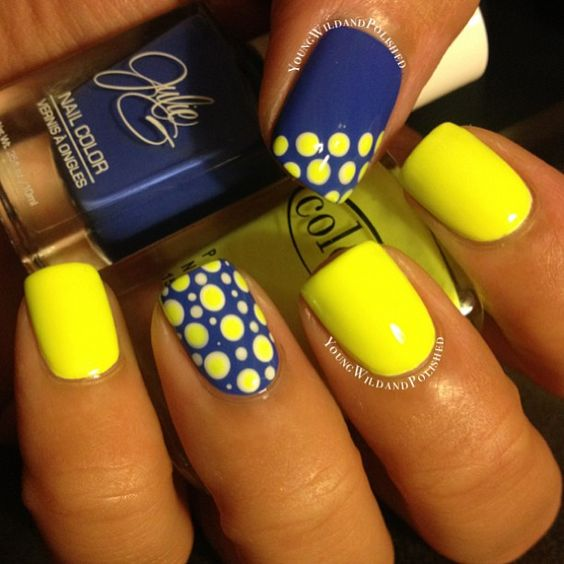 17 Trendy Yellow Nail Art for Summer