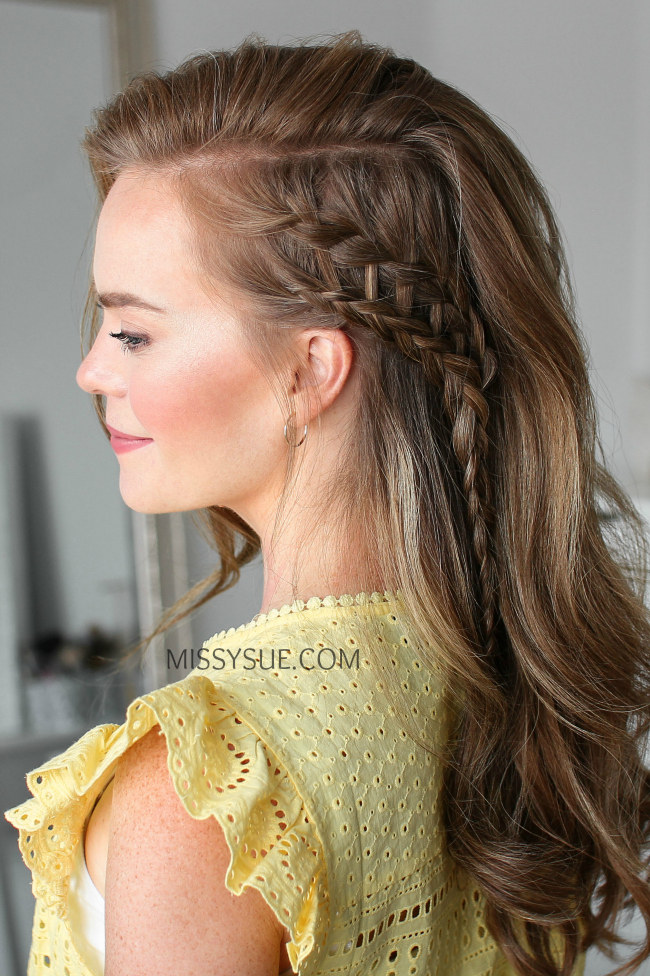 step by step ladder braid