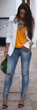 55 Orange Outfit Ideas That Make You Look Young and Fresh 15