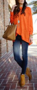 55 Orange Outfit Ideas That Make You Look Young and Fresh 25