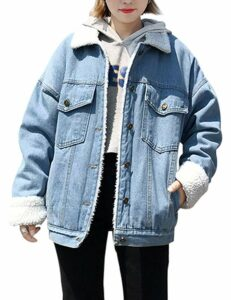 sherpa denim jacket womens