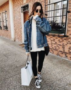 Denim Jacket Outfits Inspirations for Girl 15