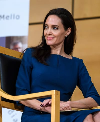 Angelina Jolie with a Smirk