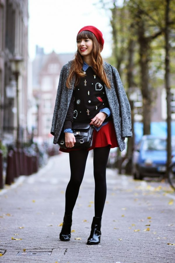 cute preppy outfit for fall and winter bmodish