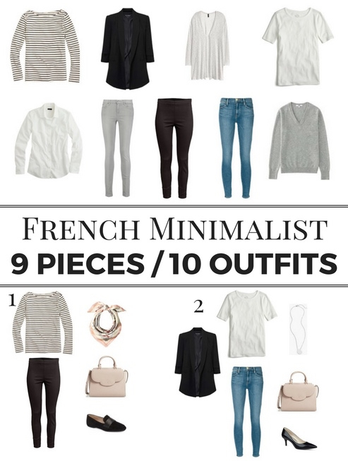 How to Get French Minimalist Style | (9 Pieces / 10 Outfits)