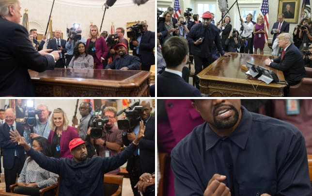 Kanye with trump