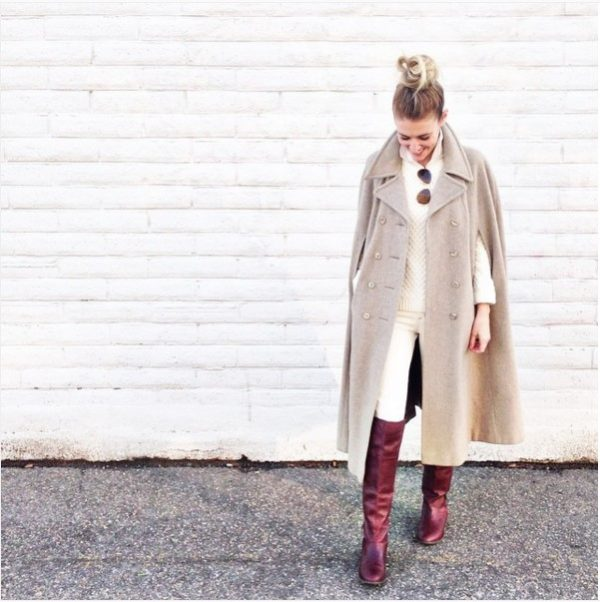 long cape coat for fall and winter bmodish