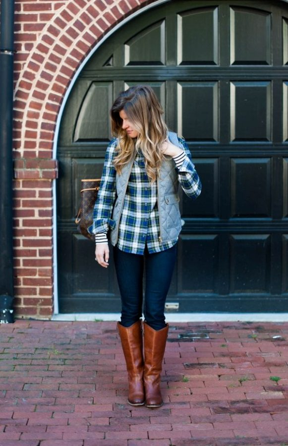 modern preppy fall outfit bmodish