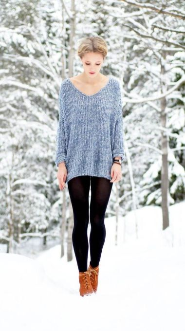 Fashionable oversized sweater for winter outfit 52