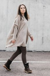 Fashionable oversized sweater for winter outfit 61