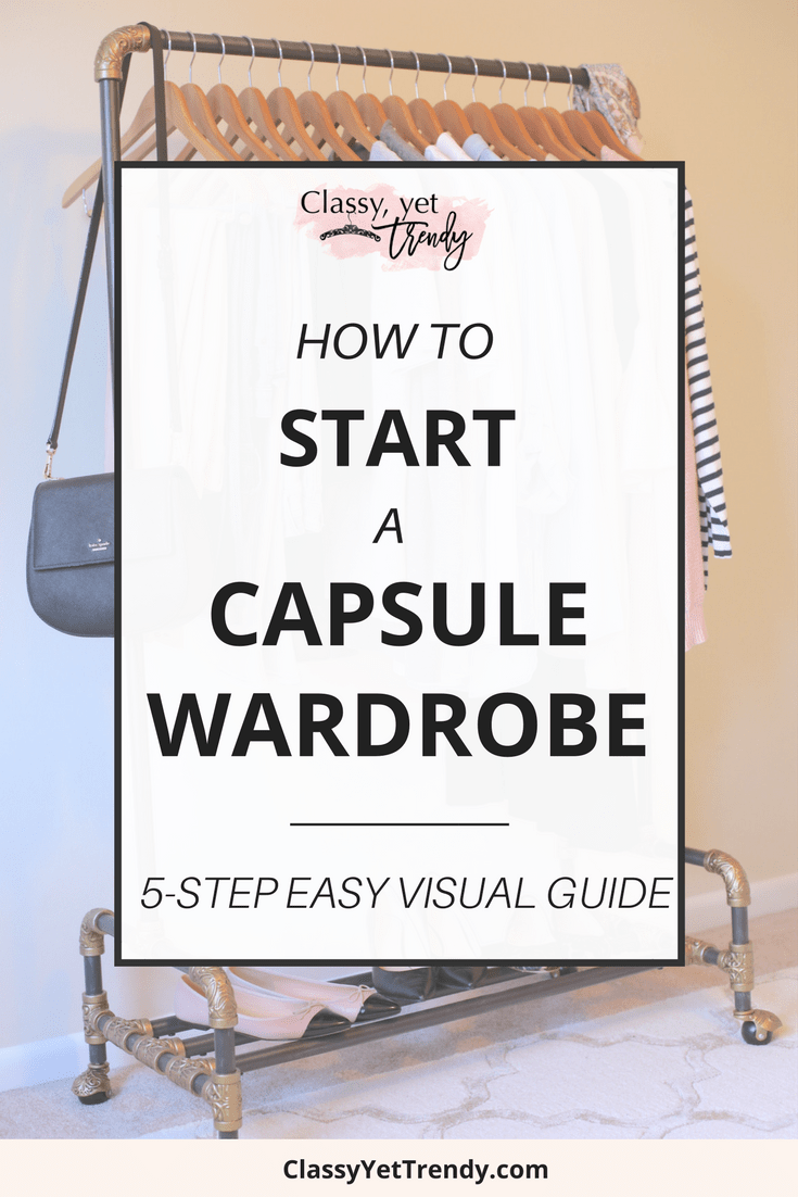 How To Start a Capsule Wardrobe-5 Step Visual Guide