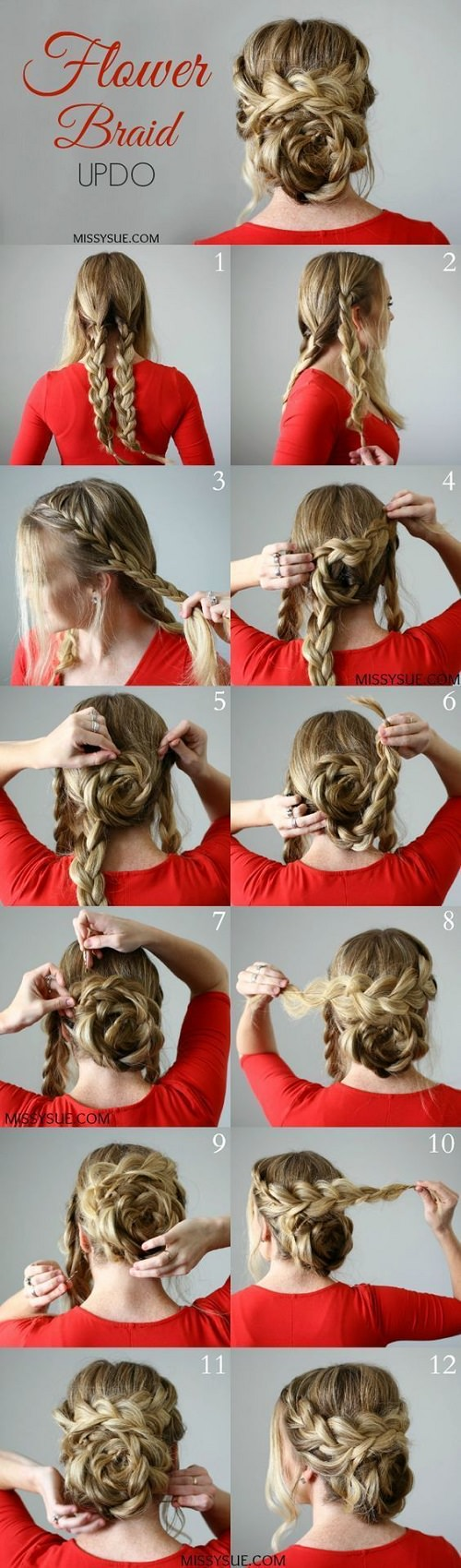 30 Hairstyles for long hair with step by step instructions.