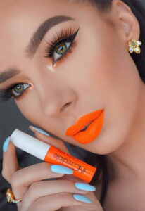 orange lipstick warm skintone