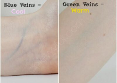skin undertones blue and green veins