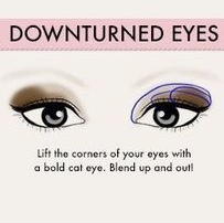 Downturned eye shape makeup