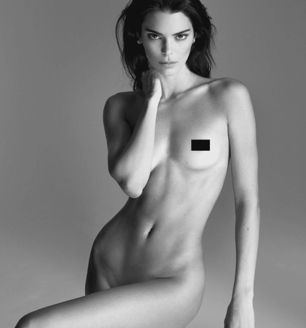 Kendall Jenner Gets Naked to Talk about Acne ( ..For Some Reason?)