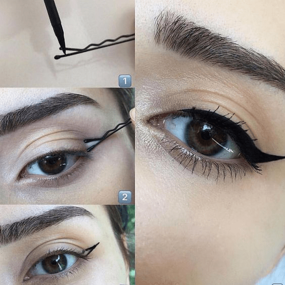 winged eyeliner hacks
