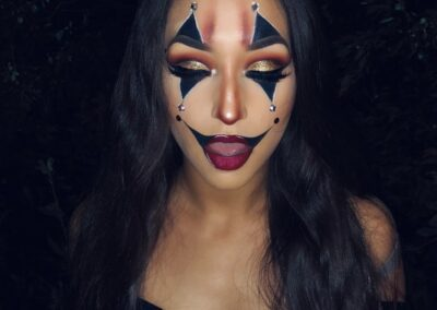 Glam clown makeup