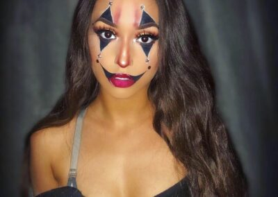 female clown makeup